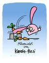 Cartoon: Hasi 88 (small) by schwoe tagged hasi,hase,karate,schlag,möhre,möhrensalat,kampfsport