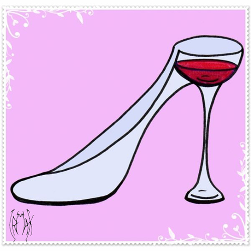 Cartoon: FETISH WINE (medium) by majezik tagged wine,shoes,glass