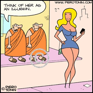 Cartoon: All is illusion? (medium) by Piero Tonin tagged lama,dalai,sexuality,curvy,miniskirts,miniskirt,boobs,tits,busty,voluptuous,eros,erotic,sexy,women,woman,girls,girl,religions,religion,philosophy,spirituality,reality,illusion,maya,hindu,hinduism,monks,monk,buddhist,buddha,buddhism,tonin,piero