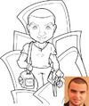 Cartoon: Viny - Caricature (small) by Dan Artes tagged caricature