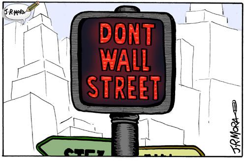 Cartoon: Caida de la bolsa Wall Strret (medium) by jrmora tagged bolsa,finanzas,wall,street