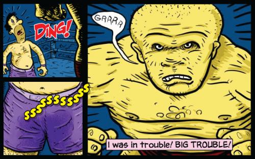 Cartoon: Big Trouble! (medium) by monsterzero tagged humor,sports,urine