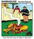 Cartoon: MARMADUKE - the Final Episode (small) by monsterzero tagged satire,cartoon,dogs