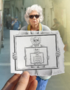 Cartoon: Pencil Vs Camera - 51 (small) by BenHeine tagged old,woman,age,regret,missing,you,frame,abyme,sunglasses,lunettes,italy,venice,venise,light,lumiere,expressive,portrait,spontaneous,loneliness,love,amour,solitude,nostalgia,melancholy,life,vie,drawing,photography,pencil,vs,camera,pencilvscamera,art,ben,hei