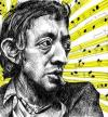 Cartoon: Serge Gainsbourg (small) by BenHeine tagged serge,gainsbourg,france,chanteur,sea,sex,and,sun,sing,famous,star,debauche,cigarette,drogue,amour,jane,birkin,sex,musical,notes,music,exces,collier,necklace,addiction,song,love,romantic,drugs,sexe,yellow,sad,ben,heine,