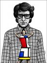 Cartoon: Yves Saint Laurent (small) by BenHeine tagged yves,saint,laurent,ysl,gucci,dior,pierre,berge,elegance,designer,fragrance,perfume,mode,dress,woman,piet,mondrian,art,couture,cutting,edge,controversial,gay,homosexual,genius,robe,fashion,cancer,creation,libertarian,anarchic,jacket,shirt,clothes,ben,heine