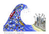 Cartoon: consumption wave comeback (small) by Anitschka tagged consumption,wave,konsum,welle,industrie,umwelt