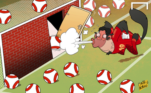 Cartoon: Big bad wolf Costa (medium) by omomani tagged diego,costa,spain
