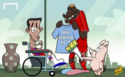 Cartoon: Thiago injured again (medium) by omomani tagged thiago,alcantara