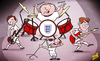 Cartoon: A tribute to England 2014 (small) by omomani tagged england,jack,wilshere,lampard,rooney,steven,gerrard,world,cup,2014
