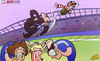 Cartoon: Benitez denies Di Canio (small) by omomani tagged chelsea,david,luiz,matthew,kilgallon,paolo,di,canio,premier,league,rafael,benitez,sunderland,torres