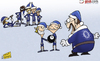 Cartoon: Benitez little helpers (small) by omomani tagged branislav,ivanovic,chelsea,david,luiz,elve,hazard,lampard,oscar,premier,league,rafael,benitez,ramires,santa,claus,torres