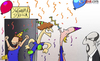 Cartoon: Chelsea football party (small) by omomani tagged david,luiz,juan,mata,torres,rafael,benitez,chelsea,club,world,cup