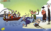 Cartoon: EPL stars miss the boat (small) by omomani tagged aaron,lennon,arsenal,champions,league,chelsea,ferguson,manchester,city,united,mancini,rafael,benitez,wenger