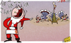 Cartoon: Ferguson has last laugh (small) by omomani tagged ferguson,hart,manchester,city,united,mancini,premier,league,santa,claus,tevez