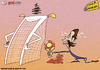 Cartoon: Fernando Torres bad romance (small) by omomani tagged chelsea,england,premier,league,spain,torres