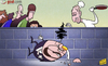 Cartoon: Humpty dumpty Benitez falls off (small) by omomani tagged abramovich,cech,chelsea,david,luiz,rafael,benitez,torres