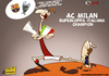Cartoon: Ibrahimovic and Supercoppa (small) by omomani tagged ibrahimovic,ac,milan,inter,barcelona,supercoppa,italiana,seria,la,liga,spain,sweden,italy,champions,league,soccer,football