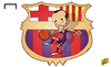 Cartoon: Iniesta An emblem for Barcelona (small) by omomani tagged barcelona,iniesta