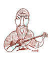Cartoon: Kim Thayil caricature (small) by omomani tagged kim,thayil,soundgarden,caricature,music