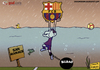 Cartoon: Messi vs Bilabo (small) by omomani tagged argentina,barcelona,bilbao,la,liga,messi,san,mamaes,spain