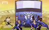 Cartoon: Mourinho bus runs out of gas (small) by omomani tagged champions,league,chelsea,etoo,hazard,john,terry,mourinho,torres