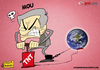 Cartoon: Mourinho VS the World (small) by omomani tagged mourinho,real,madrid,portugal,spain,la,liga,world,bomb,soccer,football