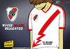 Cartoon: River Plate down (small) by omomani tagged river,plate,argentina,primera