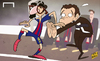 Cartoon: Suarez gearing up for debut (small) by omomani tagged barcelona,claudio,bravo,luis,enrique,suarez