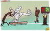 Cartoon: Wenger new Plan B as Bergkamp (small) by omomani tagged arsenal,wenger,gervinho,dennis,bergkamp