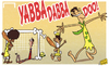 Cartoon: Yabba dabba doo Fred sees Brazil (small) by omomani tagged brazil,buffon,confederations,cup,dante,fred,italy,neymar,the,flinestones
