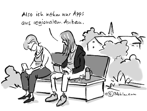 Cartoon: Regio-Apps (medium) by Pfohlmann tagged internet,smartphone,digital,app,apps,regional,bio,öko,handy,digitalisierung,user,internet,smartphone,digital,app,apps,regional,bio,öko,handy,digitalisierung,user