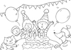 Cartoon: ausmalbild Geburtstag (small) by sabine voigt tagged ausmalbild,geburtstag,kinder,feier,party,kindergarten,grundschule