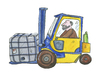 Cartoon: Gabelstabler Industie (small) by sabine voigt tagged gabelstabler,industie,lager,arbeiter,arbeit,transport