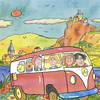 Cartoon: reise reisen vw-Bus (small) by sabine voigt tagged reise,reisen,vw,bus,familie,ferien,tourismus,mosel,rhein,saar