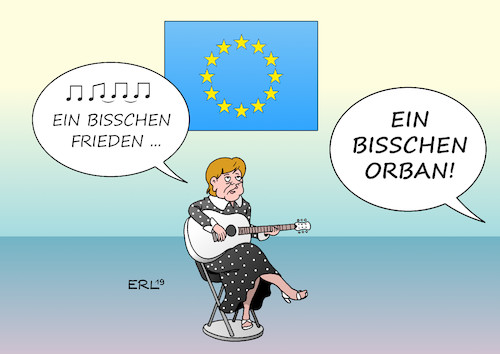 Cartoon: Eurovision Song Contest (medium) by Erl tagged politik,eurovision,song,contest,lied,europa,demokratie,werte,rechtspopulismus,nationalismus,rassismus,viktor,orban,bundeskanzlerin,angela,merkel,ein,bisschen,frieden,nicole,karikatur,erl,politik,eurovision,song,contest,lied,europa,demokratie,werte,rechtspopulismus,nationalismus,rassismus,viktor,orban,bundeskanzlerin,angela,merkel,ein,bisschen,frieden,nicole,karikatur,erl