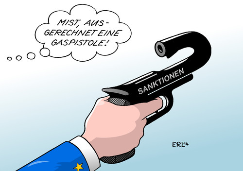 Cartoon: Sanktionen gegen Russland (medium) by Erl tagged ukraine,konflikt,krieg,russland,eu,usa,sanktionen,putin,konter,energiepreis,gaspreis,gaspistole,bumerang,ukraine,konflikt,krieg,russland,eu,usa,sanktionen,putin,konter,energiepreis,gaspreis,gaspistole,bumerang