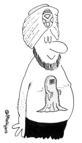 Cartoon: TOO TA TOO (medium) by EASTERBY tagged burka,tatoo,arabs,too
