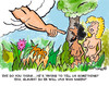 Cartoon: Adam and Eve in Paradise (small) by EASTERBY tagged adam,and,eve,paradise