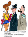 Cartoon: Do it yourself (small) by EASTERBY tagged ladies,men