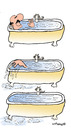 Cartoon: Drama in the bath (small) by EASTERBY tagged bathtime,drowning
