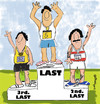 Cartoon: EVERYBODY IS A WINNER (small) by EASTERBY tagged sports,rostrum,prizes,medals