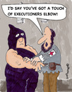 Cartoon: Executioners Elbow (small) by EASTERBY tagged executions first aid