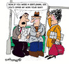 Cartoon: GENTLE MAN? (small) by EASTERBY tagged behaviour gentlemen