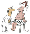 Cartoon: HAIR RAISING (small) by EASTERBY tagged doctors patients wigwearers