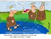 Cartoon: HOLY ORDERS 12 (small) by EASTERBY tagged monks,halos,faith,believing