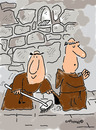 Cartoon: HOLY ORDERS 8 (small) by EASTERBY tagged monks,halos,faith,believing,cleaning