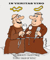 Cartoon: In veritas vino (small) by EASTERBY tagged monks,wine