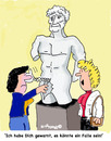 Cartoon: Out Watch (small) by EASTERBY tagged statues,museums