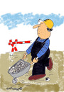 Cartoon: Road Signs 10 (small) by EASTERBY tagged road,works,signs